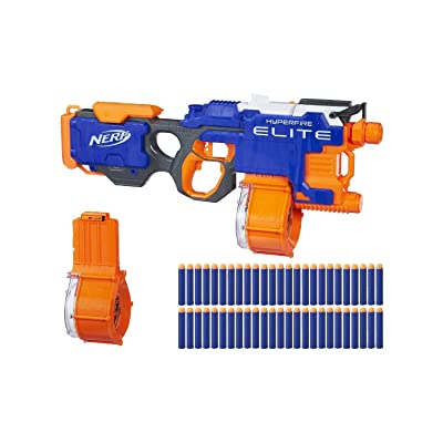 Nerf N-Strike Elite HyperFire Blaster (with Bonus Drums and 25 Extra Darts): Toys & Games