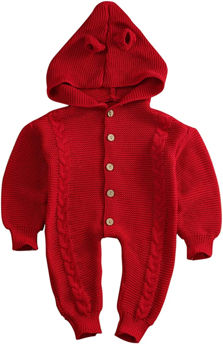 Newborn Baby Boy Girl Winter Outfits Jumpsuit Hooded Romper Warm Coat Outwear AiYannis6