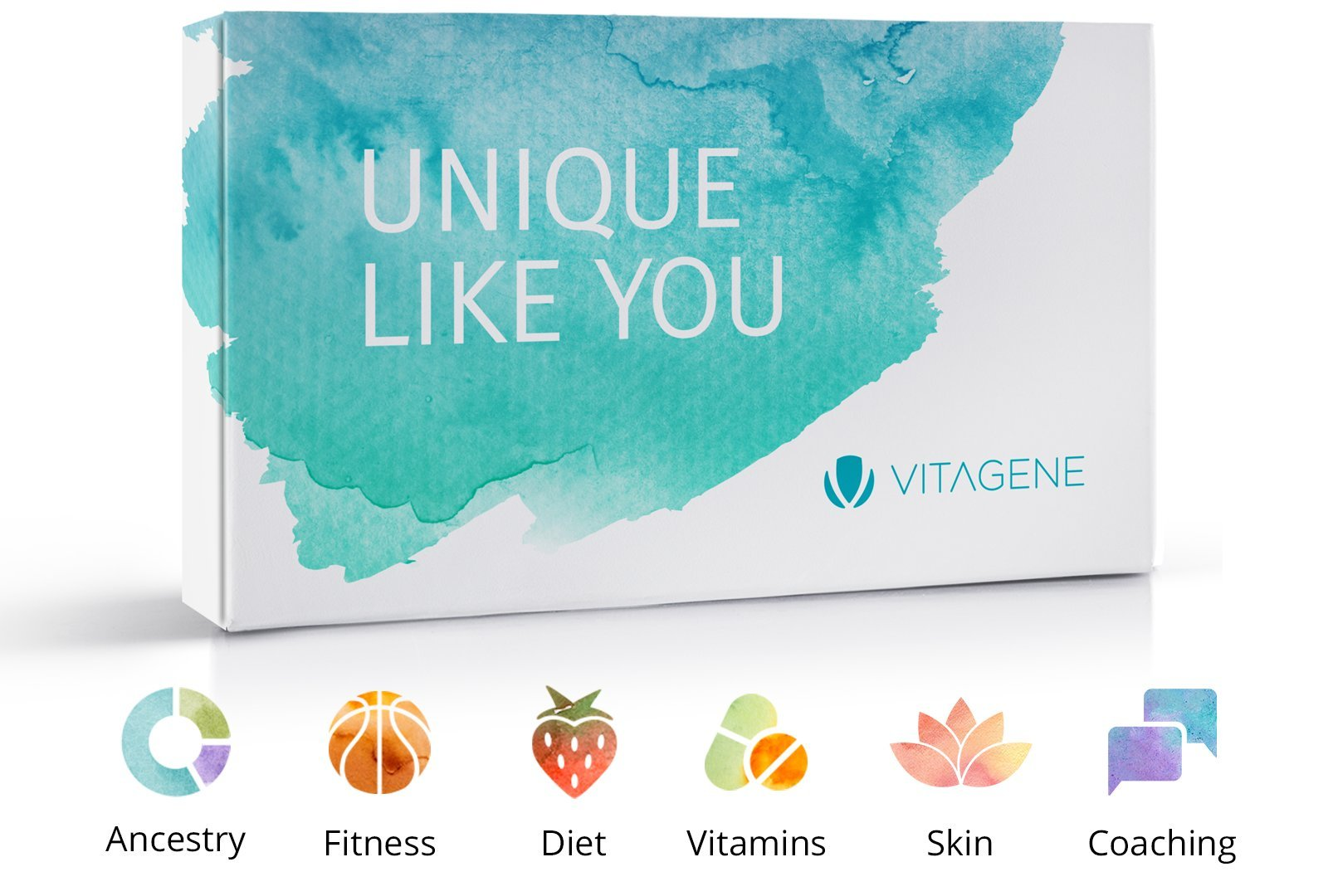 Vitagene DNA Test Kit: Health + Skin and Beauty + Ancestry Personal Genetic Reports + Nutritional Coaching