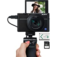 Sony Video Creator Kit (RX100VI 24-200mm F2.8-4.5 ZEISS zoom lens) with VCTSGR1 shooting grip, extra battery, and 32GB SD card