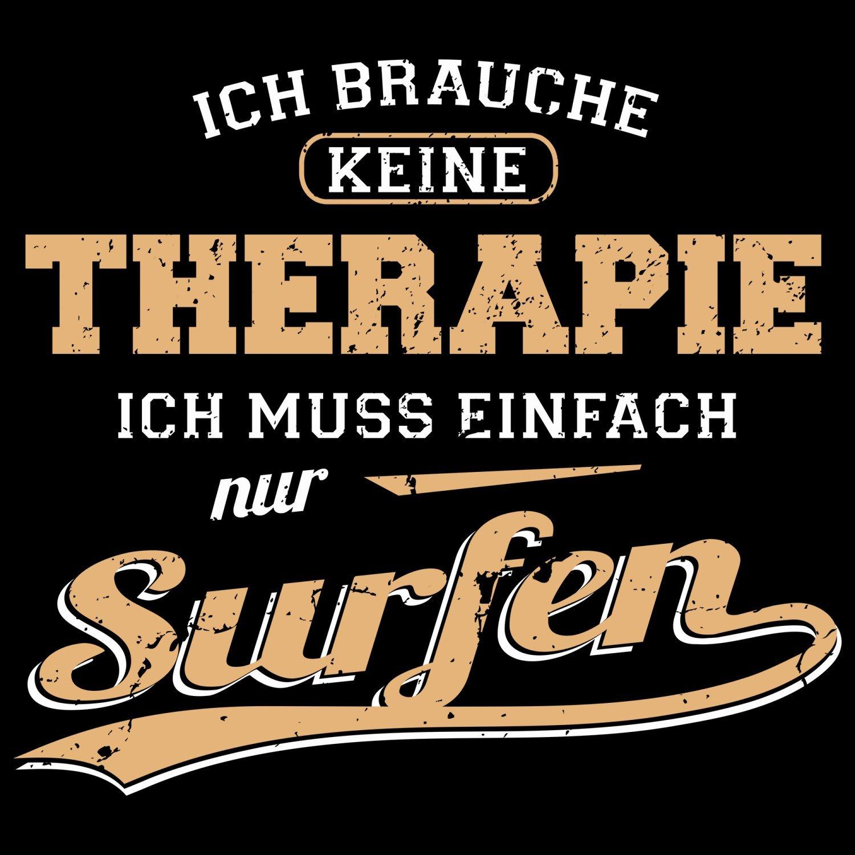 Fashionalarm Damen T-Shirt - Ich brauche keine Therapie - Surfen | Fun Shirt  mit Spruch als Geschenk Idee für Kite Surferin Wasser Sport Urlaub Hobby:  ...