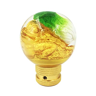 Bashineng Round Car Gear Shifter Knobs, Ball Style Shifting Lever Stick Shift Head Fit Most Automatic Manual Vehicle, Green: Automotive