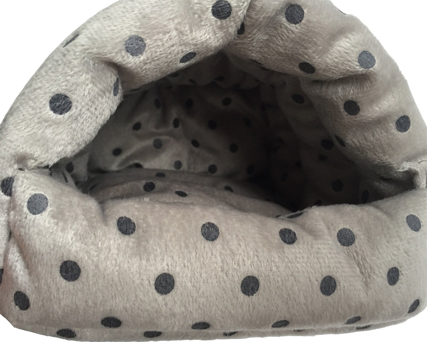 WowowMeow Small Animals Warm Hanging Cage Cave Bed Hamsters, Guinea-Pigs, Rats, Rabbit Chinchillas (L, Dot-Grey) by WowowMeow (Image #3)