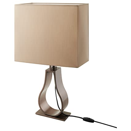 Brilliant Ikea Klabb Table Lamp Light Brown Bronze Colour Amazon Co Home Interior And Landscaping Eliaenasavecom