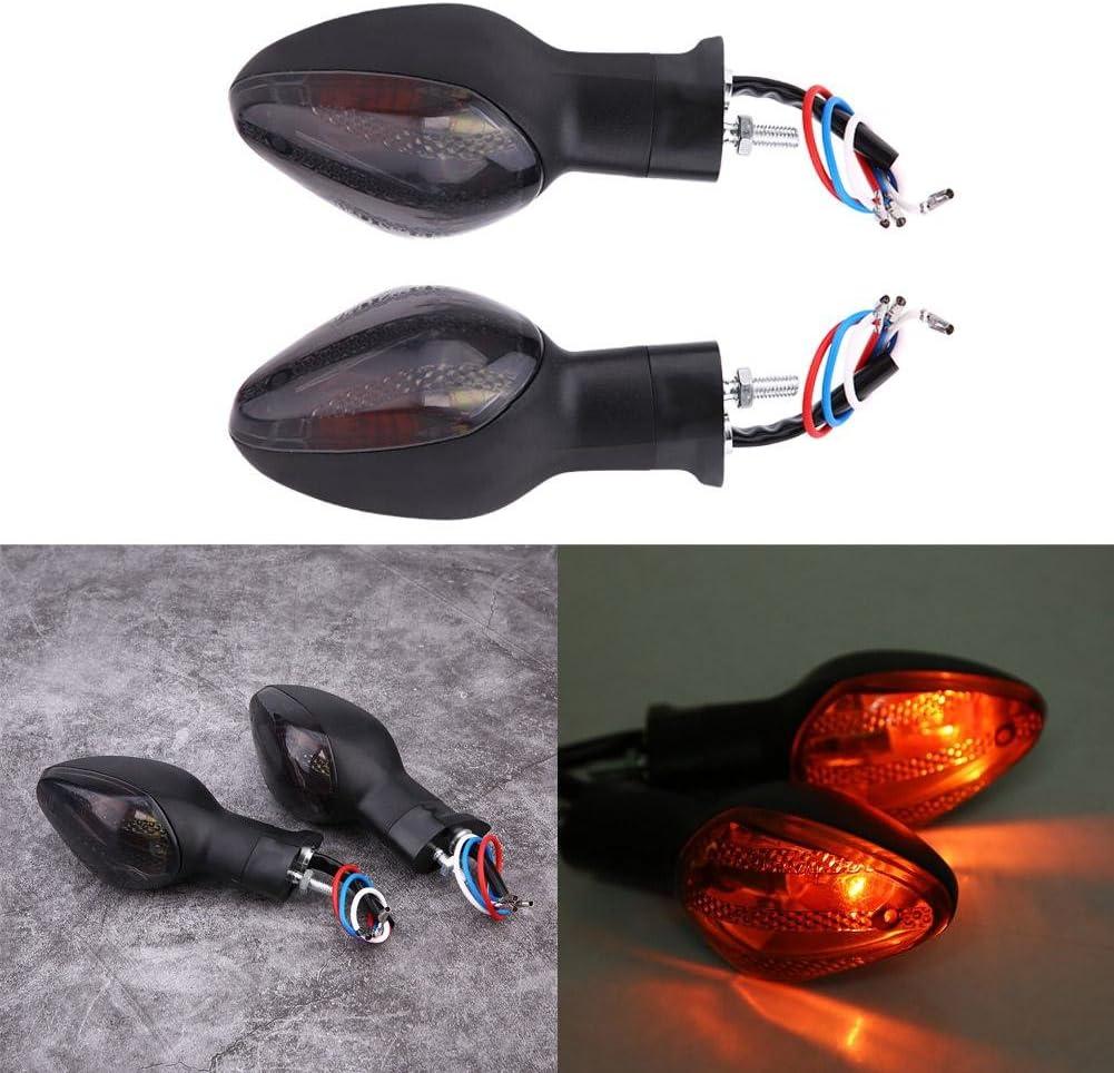 Hlyjoon 2 Pcs Moto Clignotant Arri/ère Moto Motos Allumant Lampe Ampoule Indicateur Moto Lumi/ères Fit pour CBR600RR 1000RR 125R CB1300S CB500X CBR500R NC700S