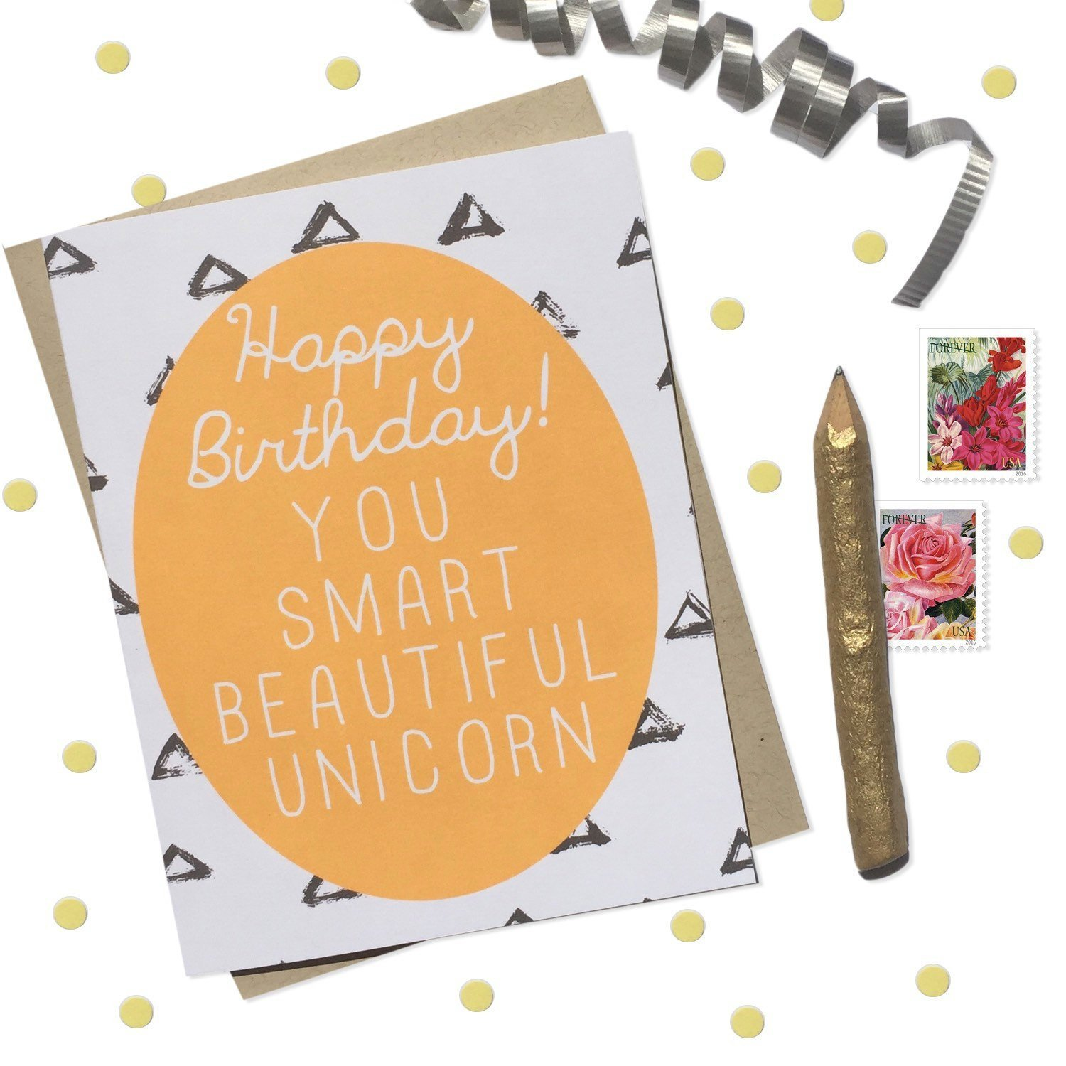 Birthday Card with Optional Customized Message