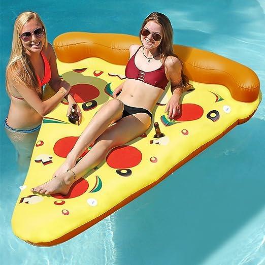 Lumiparty Flotador Hinchable para Piscina de Pizza y Deportes ...
