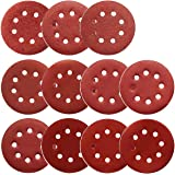 5-Inch Hook and Loop Sanding Discs for Orbital Sander, Assorted Sandpaper 40-1000 Grits, 110pcs by FRIMOONY