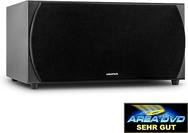 Auna Linie 501 Sw Bk Aktiv Hifi Subwoofer 250 Watt Rms 2 X 8 Tieftöner Integrierter Verstärker Holz Finish Abnehmbare Lautsprecherabdeckung Schwarz Audio Hifi