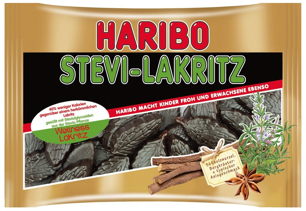 Haribo Stevia Licorice 100g / 3.5 Oz