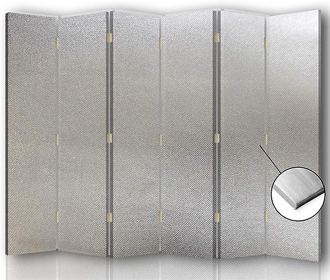 F FEEBY WALL DECOR Foto Biombo Lienzo 6 Paneles Unilateral Plata 216x175 cm: Amazon.es: Hogar