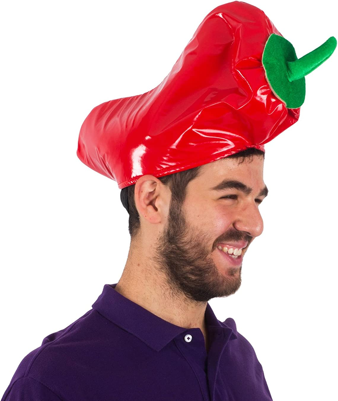 Red Chili Pepper Hat Adult Costume Accessory NEW