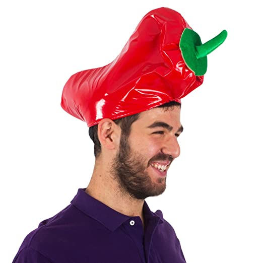 dfdd43646 Amazon.com  Red Pepper Hat - Adults Cinco De Mayo Party Hats - Novelty Hats  by Funny Party Hats  Clothing