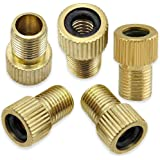 Mobi Lock Brass Presta Valve Adaptor (Pack of 5) - Convert Presta to Schrader for Bikes and Cars - Inflate Tire Using…