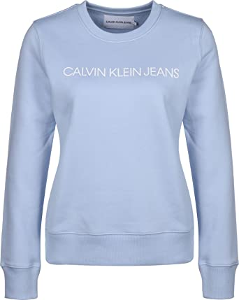 Calvin Klein Jeans Institutional Regular W Sudadera: Amazon.es: Deportes y aire libre