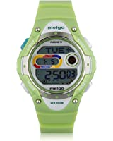 Pasnew LED 100M Waterproof Digital Sport Watch for 5-15 Years Old Boys Girls Kids Students (Green)