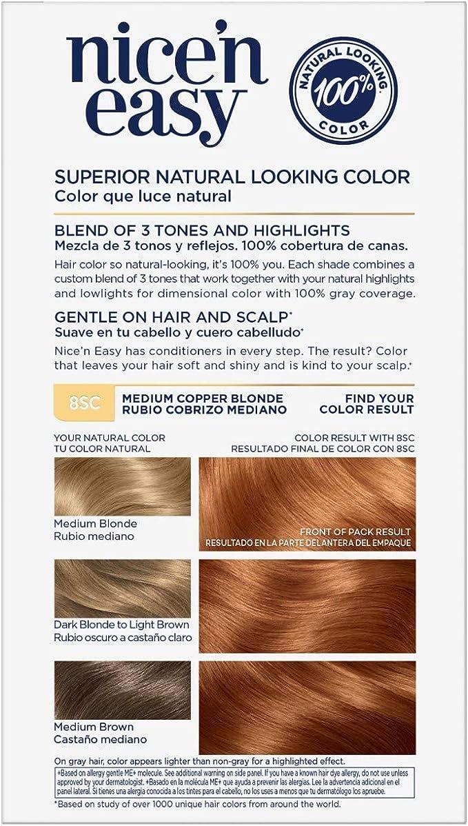 Clairol Nice N Easy Hair Color 8SC Sandy Copper Blonde Kit by Clairol