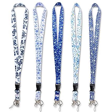Nek cordones ,correa de cuello/cuerdas con anillo metálico para titular de placas de la tarjeta de identificación,llaves, llaveros ,celulares, ...
