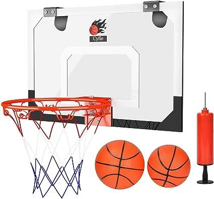 Dewel Canasta Baloncesto ,Tablero de pared de baloncesto para Oficina y casa (Incluyendo Inflador y dos Pelotas): Amazon.es: Deportes y aire libre