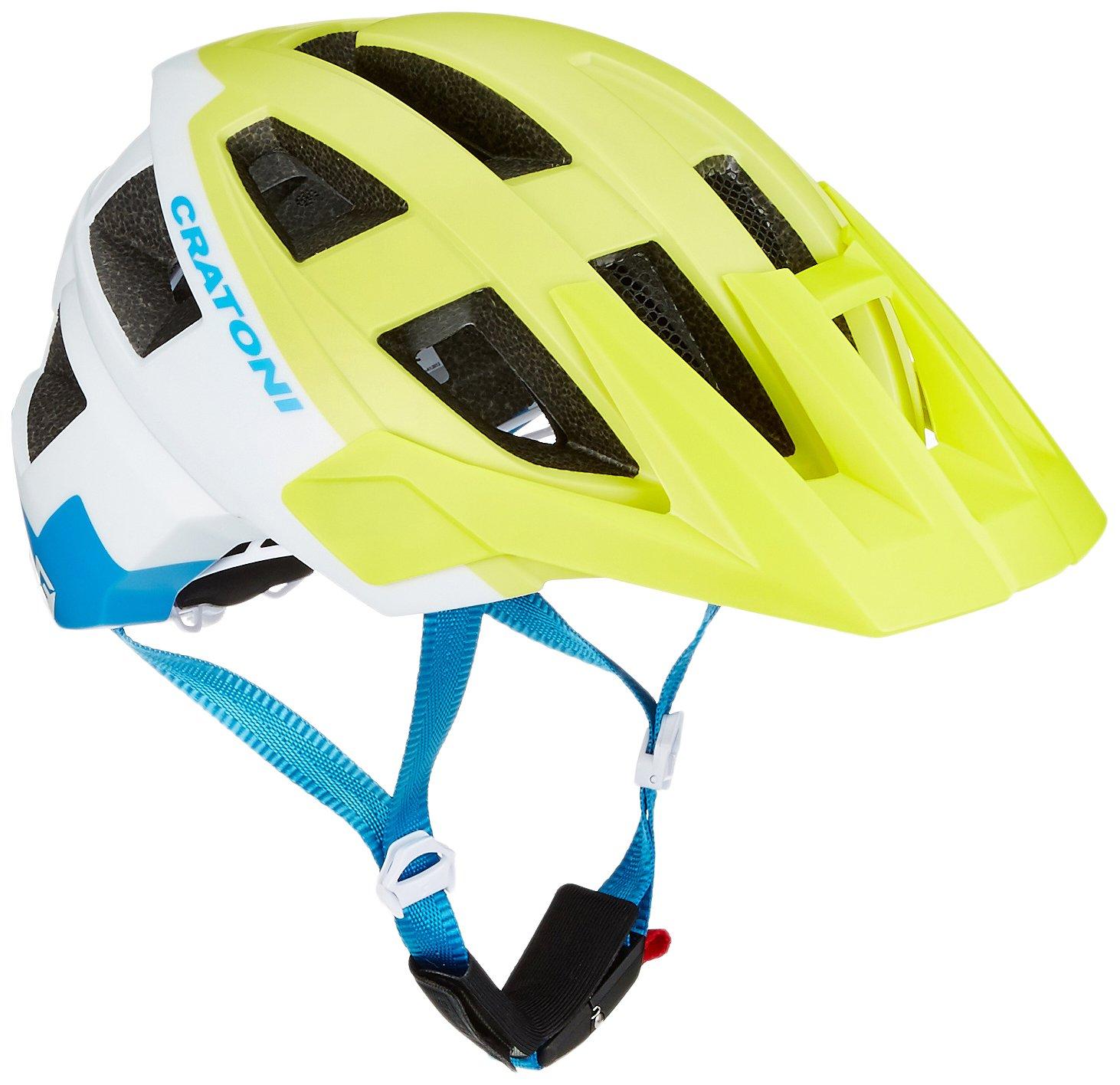 Cratoni Allset Bike Helmet Lime White Blue Matt Sm (54 58) by Cratoni (Image #1)
