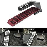 buyinhouse Chrome Adjustable Non Slip Footrest Pedal Cover for Jeep Wrangler JK 2/4-Door 2007-2017