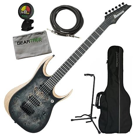 Ibanez rgdix6pbskb RGD hierro etiqueta guitarra eléctrica – Surrealista negro Burst W/geartree gamuza,