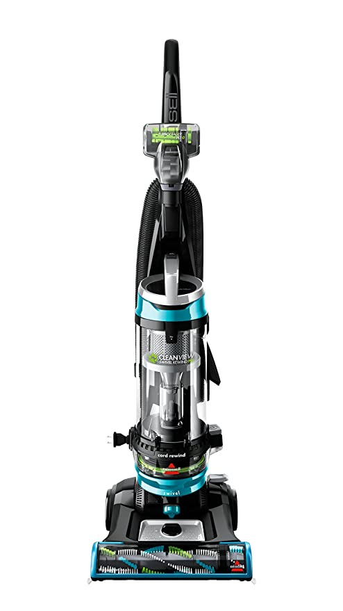 BISSELL Cleanview Swivel Rewind Pet Upright Bagless Vacuum Cleaner & Febreze Style 1215 Upright Vacuum Post-Motor Pleated Filter