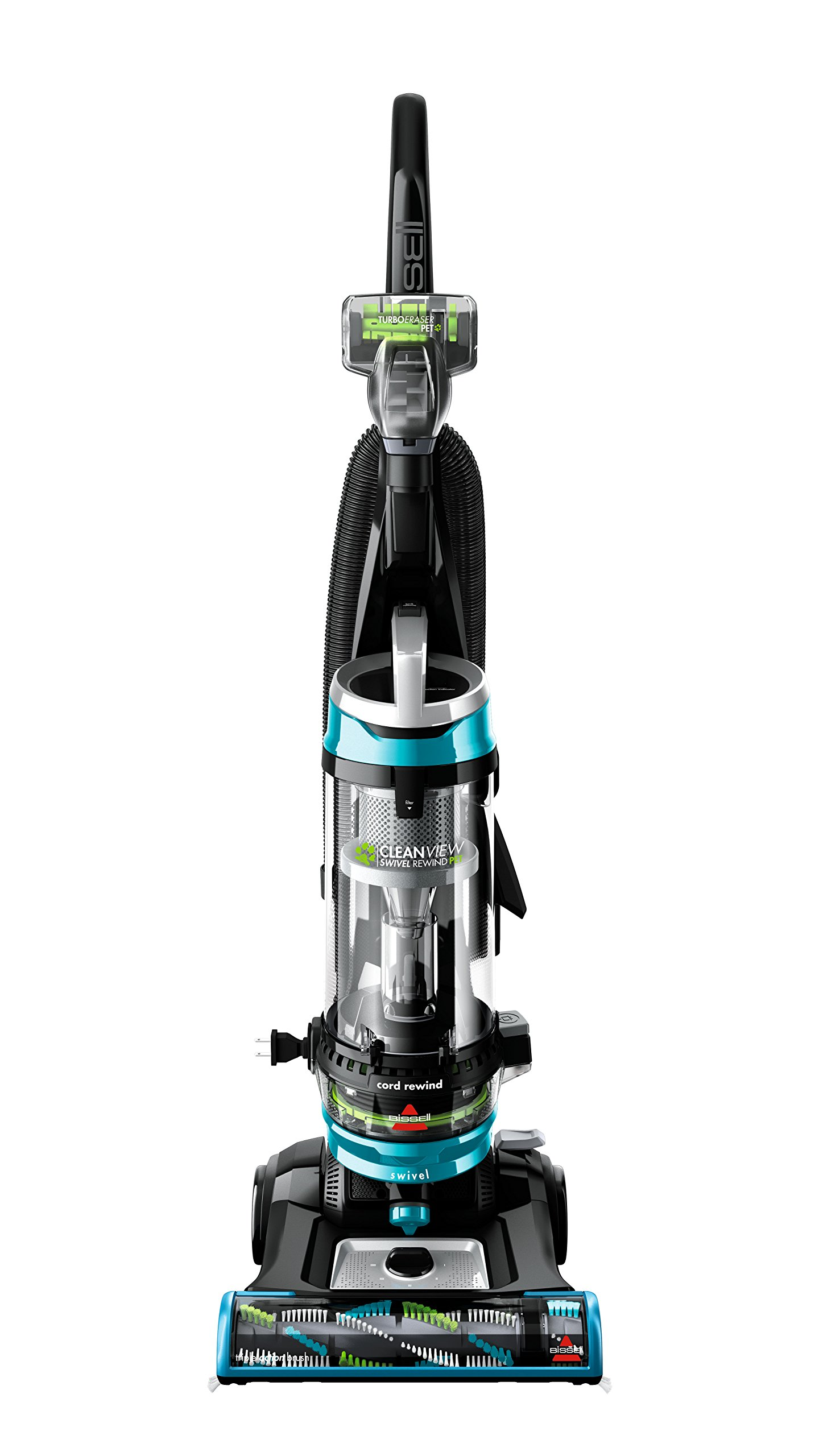 BISSELL Cleanview Swivel Rewind Pet Upright Bagless Vacuum Cleaner, Teal, 2254