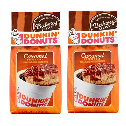 Amazon Com Dunkin Donuts Caramel Coffee Cake Ground Coffee 11 Oz
