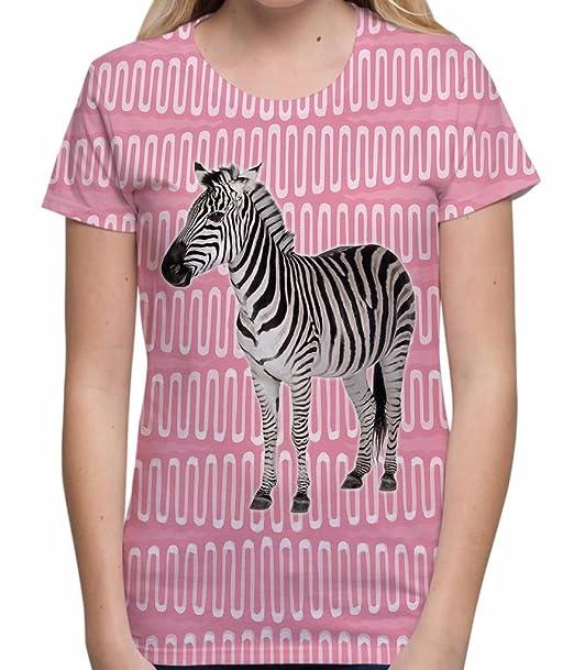 Zebra Print Animal T Shirt Womens Summer Festival Tops Retro Style Holiday tee - S