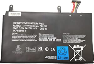 Binger New GNS-I60 Laptop Battery Compatible with GIGABYTE P35K P35K-965-4702S P57X P37X V6 Gateway 961TA010FA Series Notebook GNS-160 (11.1V 75.81Wh/6830mAh 6-Cell)
