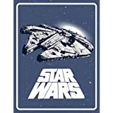"Star Wars Classic Space Logo Plush Throw Blanket - 46"" x 60"""
