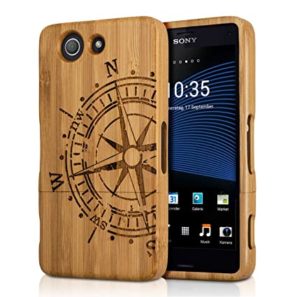 Amazon.com: kwmobile Funda de madera natural para el Sony ...
