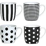 Set 4 Mugs Assortis 35 cl Noir Lolita