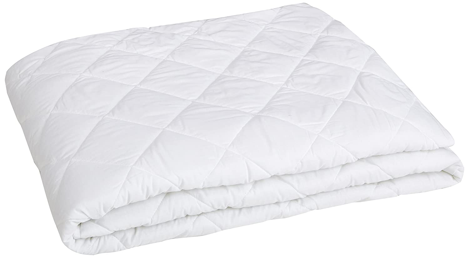 "AmazonBasics Hypoallergenic Quilted Mattress Topper, 18"" Deep, Queen"