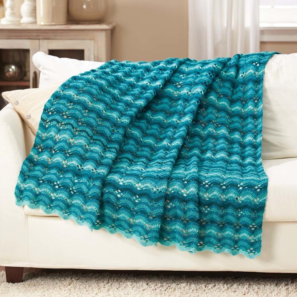 Herrschners® Island Teal Crochet Afghan Kit