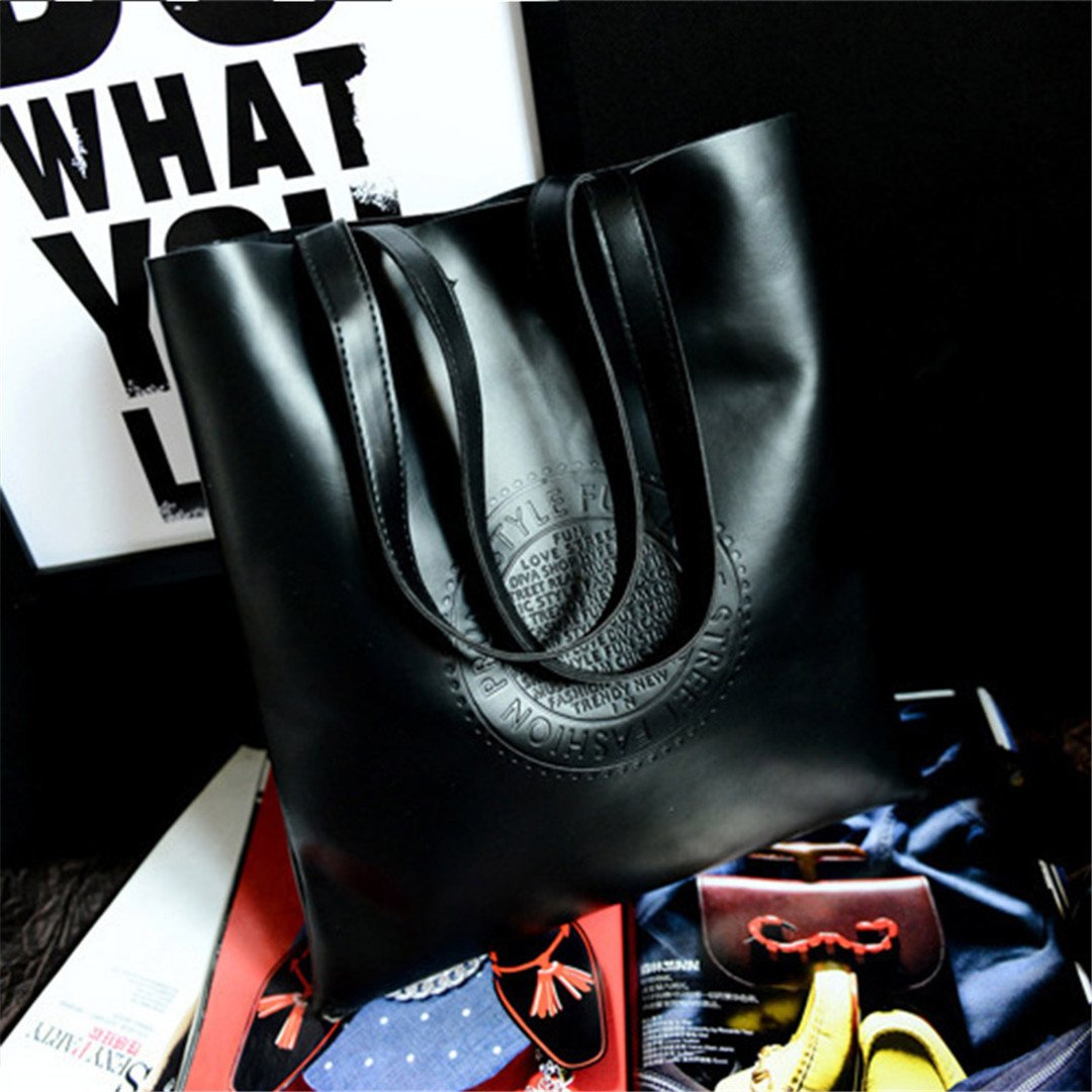 Women Fashion Handbags PU Band Tote Bags Handbag Summer Beach Shoulder Rattan Shopping Leather Messenger Hobo Bags 2G0029 Black
