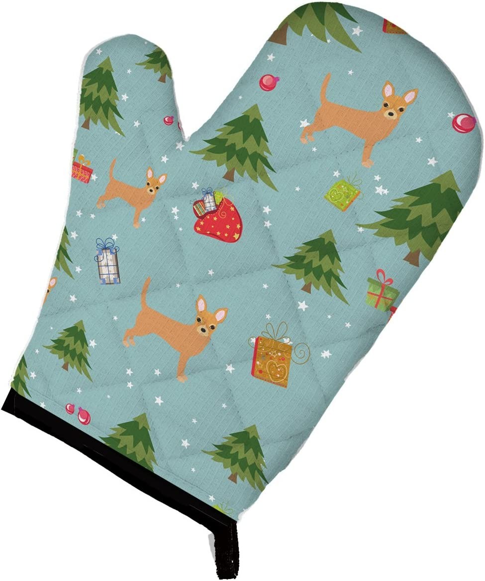 Caroline's Treasures BB4934OVMT Christmas Red Chihuahua Oven Mitt, Large, multicolor