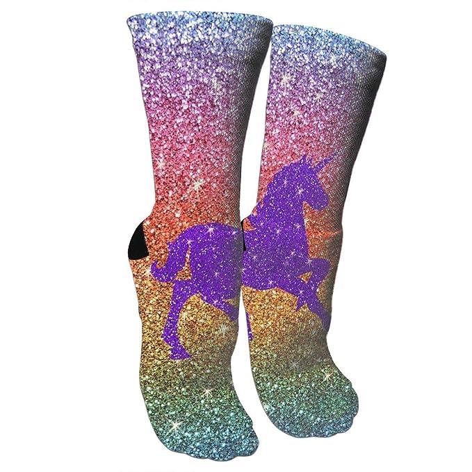 Women's Cotton Athletic Crew Unicorn Socks Cushion Casual With Moisture...