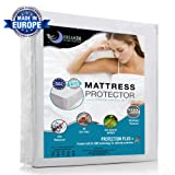 Waterproof Mattress Protector (Double size, 135 x 190/200cm) - Breathable, Hypoallergenic, Anti-Mite, Anti-Bacterial, Anti-Mold Fitted Topper for Double Bed - New Bi-Ome Treatment - 10 Year Warranty