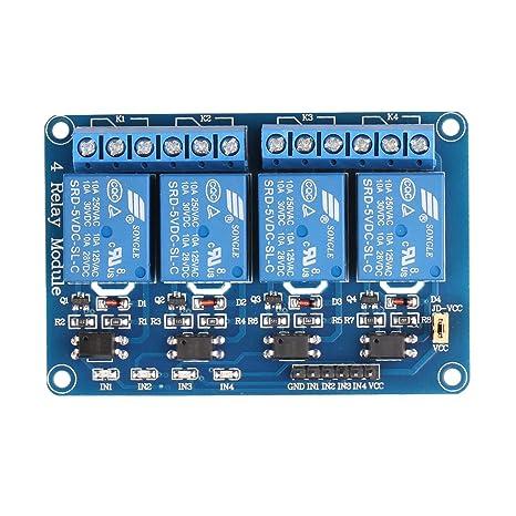 JBtek 4 Channel DC 5V Relay Module for Arduino Raspberry Pi DSP AVR on