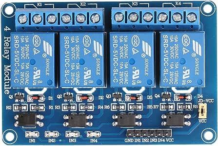 JBtek 4 Channel DC 5V Relay Module for Arduino Raspberry Pi DSP AVR PIC ARM