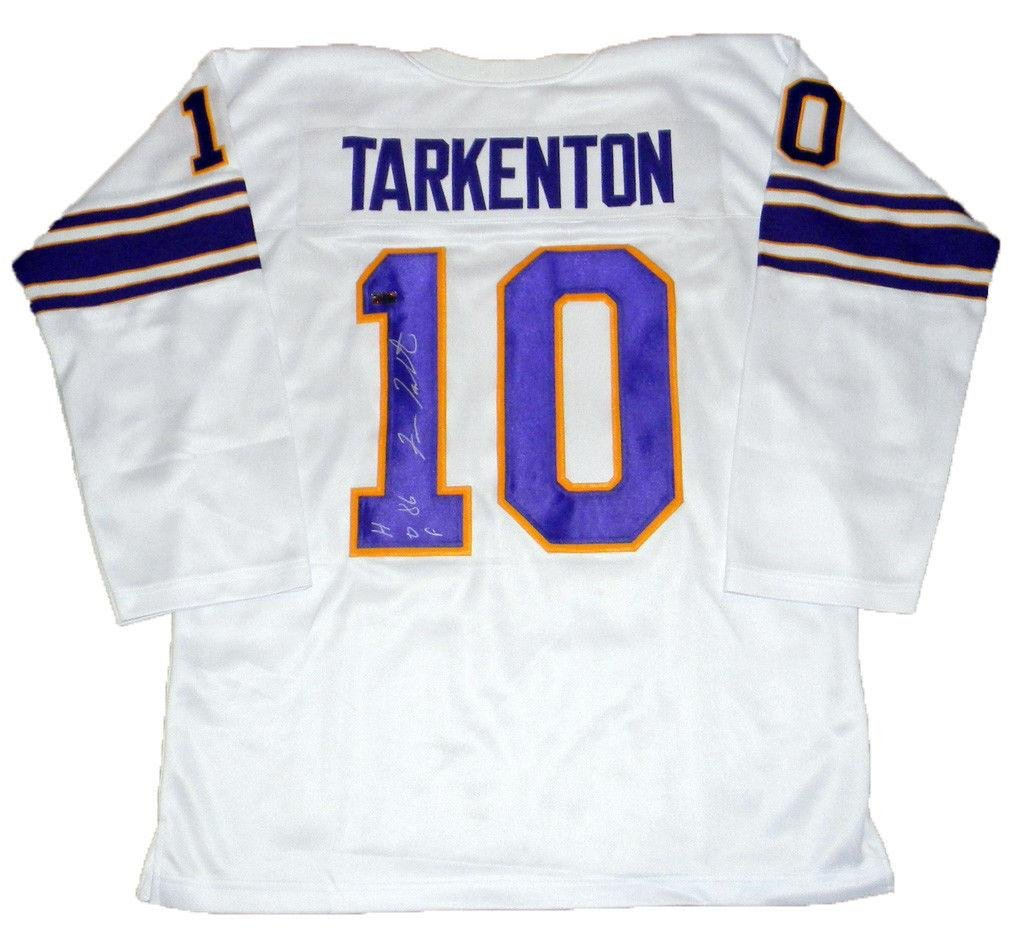 watch 1570c fdb4e Fran Tarkenton Signed Jersey - #10 White Throwback ...