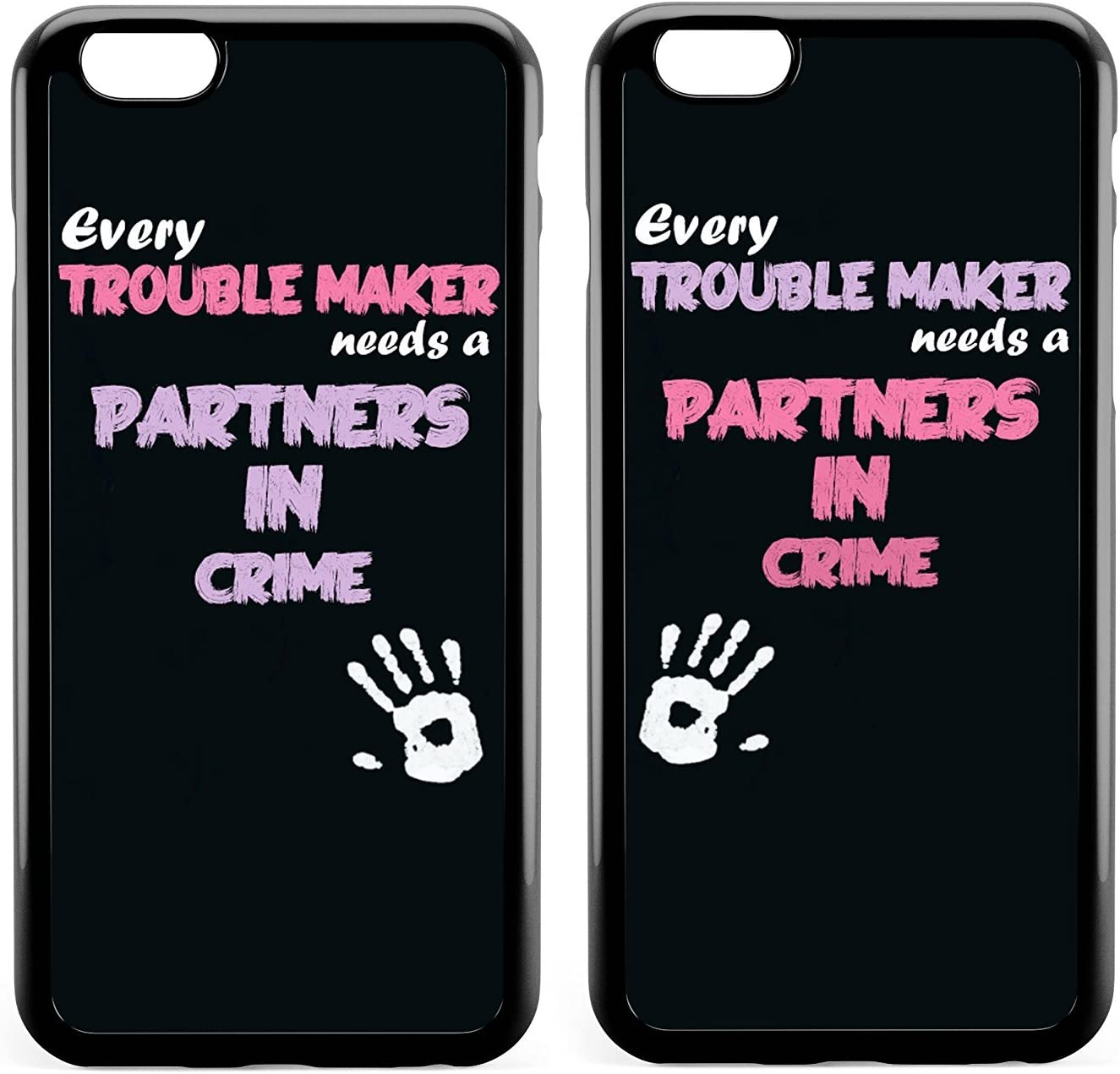 Amazon Com Couple Case Bff Best Friends Every Blonde Needs A Brunette Every Trouble Makes Needs A Partner In Crime Cute Sister Funny Matching Thing Cases For Girls Teens Kids For Iphone 7 Plus Iphone