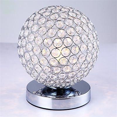 Elegant Designs Lt1026 Chr Crystal Ball Table Lamp Gray