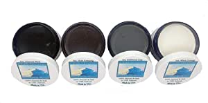 Chalk Mountain Brushes 4 Pack 100% All Natural 4oz Antiquing Wax Kit. Beautifys and Protects Painted and Unfinished Wood. Made in USA.