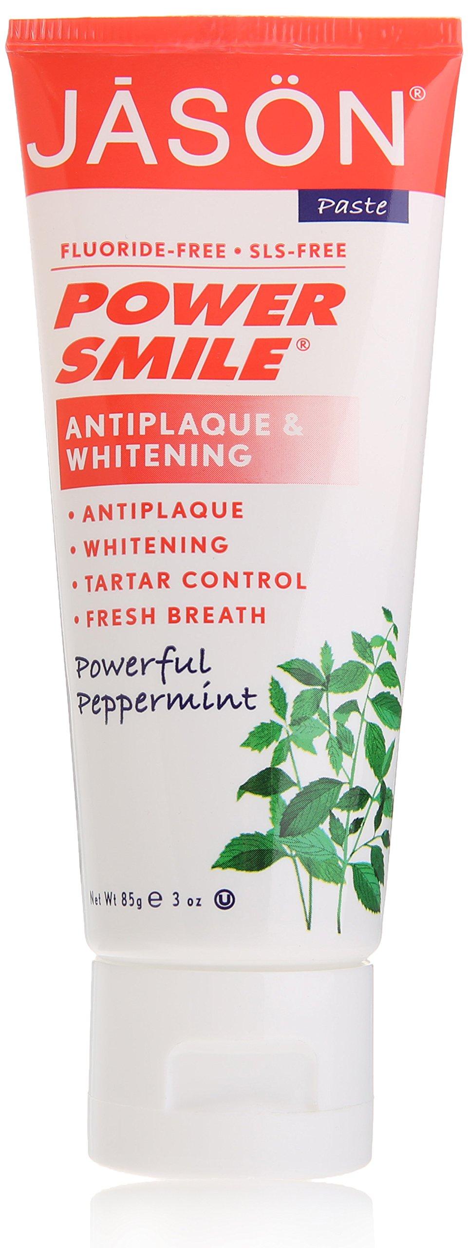 Jason Powersmile Travel Size Toothpaste, Peppermint, 3 Ounce