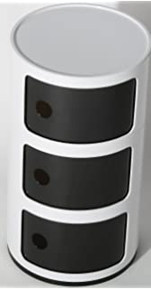 3 TIER ROUND STORAGE UNIT COMPONIBILI OFFICE BATHROOM KITCHEN RACK CADDY  DRAWER KARTELL STYLEKARTELL STYLE COMPONIBILI 3 TIER DRAWER BEDSIDE UNIT TABLE  . Round Bathroom Cabinet Uk. Home Design Ideas