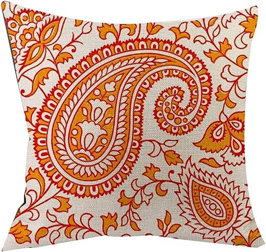 Colores vivos Boho estilo étnico flores de algodón lino tiro