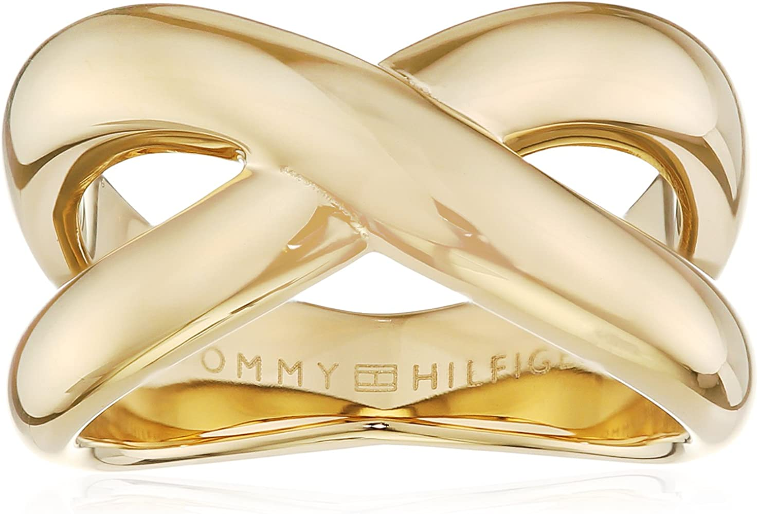 Tommy Hilfiger Jewelry Classic Signature 2700964C - Anillo para mujer (acero inoxidable, talla 54)